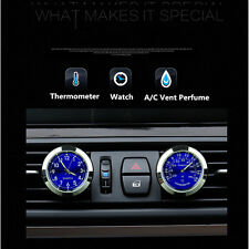 Car Clock+Car Thermometer+Sponge & Vent Clip+Injector Fit For Storage Fragrance
