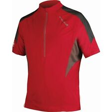 14 New Mens Endura M Hummvee Lite Jersey Shirt Top Red Black Medium