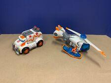 Playskool Heroes Transformers Rescue Bots Lot of 2 - Medix Ambulance/Blades Heli