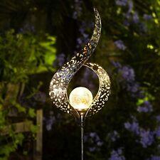 Solar Globe Pathway Garden Decor Sculpture Yard Lawn Patio Art Stake Statue LED