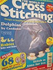 World Of Cross Stitch UK Magazine #19 Dolphins/Crinoline Lady/Pansy Sampler/Cook