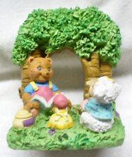 Vintage HALLMARK Crown-Bear Reading Book to Mice in a Garden Figurine