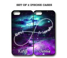 Personalized Mint Purple Nebula BFF Best Friends Case - 2 Cases For iPhone X 8 7