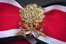 Goldenes Eichenlaub mit Schwertern + Brillanten zum Ritterkreuz des EK