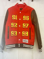 New $250 Nike Air Jordan STM Hockey Varsity Jacket Wool Leather XS BQ5165-657