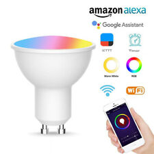 Gu10 Spotlight Wifi Smart Light Bulb 5w RGB-CW(2700-6500K) For Alexa Google Home
