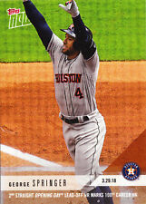 George Springer Astros 2nd Opening Day Lead-Off HR 3.29.18 2018 Topps NOW 2