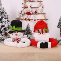 Christmas Tree Top Topper Cover Santa Claus Snowman Hat Xmas Tree Ornament Deco