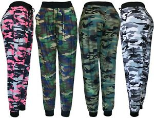 Womens Army Joggers Casual Tapered Pants