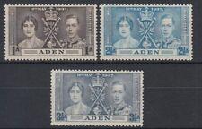 1937 Aden */MLH Mi.13/15 Krönung Coronation König King Georg Queen [sv0394]