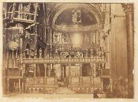 Venezia Italia Interno De St Marc Vintage Albumina 5,5x7,8cm Ca 1865