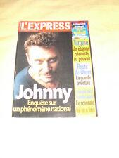 JOHNNY HALLYDAY L'express N°2679 novembre 2002
