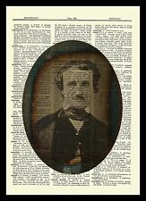 Edgar Allan Poe Dictionary Art Print Poster Picture Book Allen Vintage Portrait