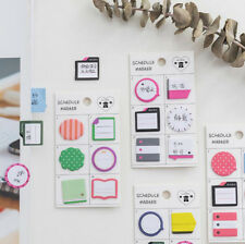 Schedule Marker Self-Adhesive Memo Sticky Note Guestbook Bookmark Desk Accessory