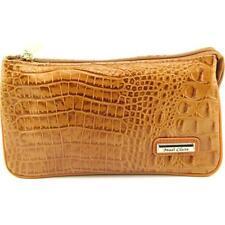 Porte-monnaie et portefeuilles beiges en cuir pour femme