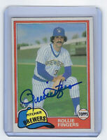 1981 BREWERS Rollie Fingers signed card Topps #761 AUTO Autographed Cy Young