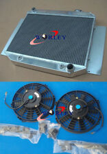 3 Row Aluminum Radiator&Fans Holden HD HR HG HQ HJ HK HT LH LX 161 186 202 AT MT