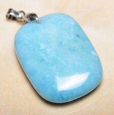 blu caraibi Larimar Diaspro Argento Sterling 925 gancetto 4.4cm CIONDOLO p10080