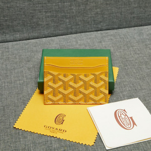 Yellow  Goyard Card Holder Saint Sulpice Wallet