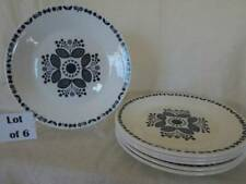 Lot of 6 Arklow Kinvara Salad Plates White Blue Floral Flower Dessert Ireland
