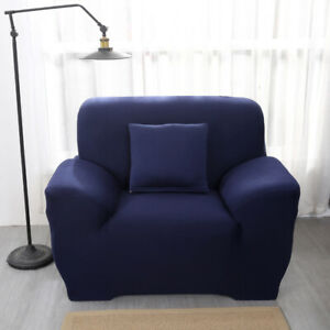 1 2 3 4 Seater Chair Sofa Cover Solid Stretch Couch Slipcover for Living Room