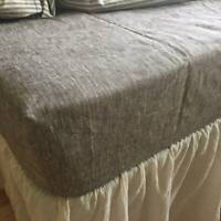Fitted SHEET 100 % Pure Linen USA Sizes