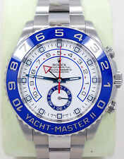 Rolex Yacht Master II 116680 44mm GMT Stainless Steel Oyster Box & Papers *MINT*