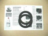 "ADVENT 2- 6""-6.5"" Woofer Speaker REFOAM Repair Kit For Advent Baby. (1pr)"