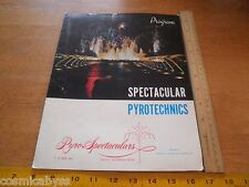 Pyro Spectaculars 1960's Fireworks Display company program folder Rialto CA
