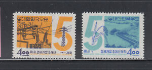 Korea 1962 5 year plan  Sc 400-401   Mint lightly hinged