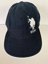 U.S. Polo Assn. Men's Polo Horse Large Logo Baseball Hat Cap Navy Blue