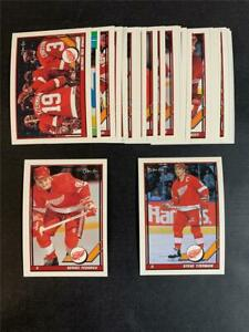 1991/92 OPC O-Pee-Chee Detroit Red Wings Team Set 24 Cards