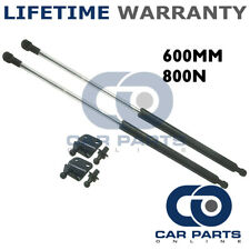 2X UNIVERSAL GAS STRUTS SPRINGS KIT CAR OR CONVERSION 600MM 60CM 800N & BRACKETS