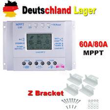MPPT Laderegler Solarregler Panel Regler 60A 80A 12V/24V Timer+ Z Bracket Kit BE