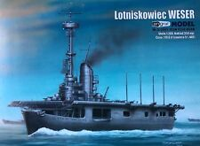 German Aircraft Carrier Weser Cut Out Paper Card Model Scale 1:200