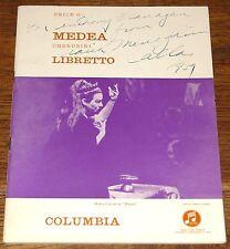 MARIA CALLAS AUTOGRAPH SIGNED UK MEDEA MONO COLUMBIA 3-DISC LP SET UACC DEALER