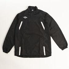 Umbro Men's Pro-Training Windbreaker Black/White Training Jersey Activewear