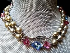 ~Elegant! VTG Yves Saint Laurent YSL Paris Couture Bead Strand NECKLACE Signed
