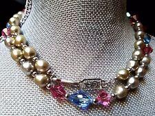 ~Elegant! VTG Yves Saint Laurent YSL Paris Couture Bead Strand NECKLACE Signed