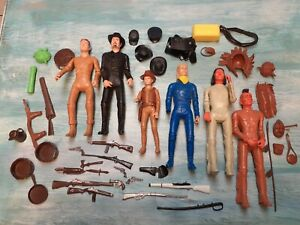 Vintage Marx Johnny West Action Figure Lot with Some Accessories