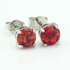 New Red Fire Opal Man and Women Opal Stud Earrings  OE231