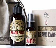 Calming Beard Care Kit: Beard Soap & Beard Oil. 100% Natural