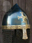 Medieval Viking Spectacle Armor Helmet With Chain mail European
