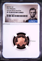 2019 S Proof LINCOLN CENT Penny NGC PF70 RD from 10-coin-silver-set FR Portrait