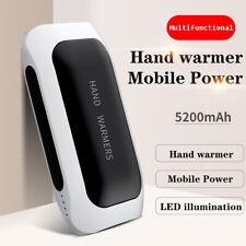 Akku Handwärmer Powerbank 5200mAh USB wiederaufladbar Elektrisch Taschenwärmer