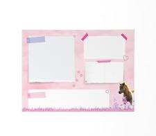 Pferde Schreibtischunterlage Kinder Mädchen, Pony Malblock, A2 Unterlage Papier