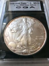 2008 American Eagle Silver Dollar  1 Og .999 Fine Silver  70