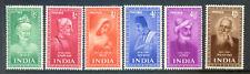 India 1952 Indian Saints and Poets set 6v mint lightly hinged (2020/06/17#09)