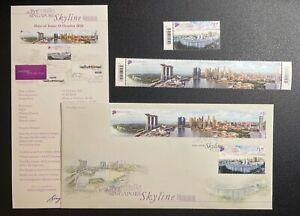 Singapore Skyline 2020 (longest stamp in Singapore history) Stamp + FDC Set
