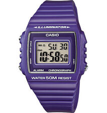 New Genuine CASIO W215H-6A DIGITAL SPORTS Unisex Quartz Watch 50M Alarm Purple